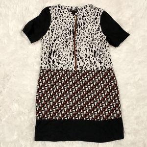 Duro Olowu Animal Print Linen Shift Dress